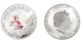 K Brexitu už se objevily také první soukromé komerční ražby mincí, tato je dílem firmy Coin Invest Trust.