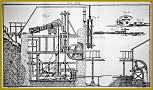 Podoba Hellova vzduchem poháněného vodotěsného stroje z Deliusovy učebnice