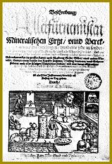 Titulní strana Beschreibung Allerfürnemisten Mineralischen Ertz und Berckwercksarten