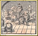 Prubířská dílna se 2 žíhacími pecemi z knihy o prubířství