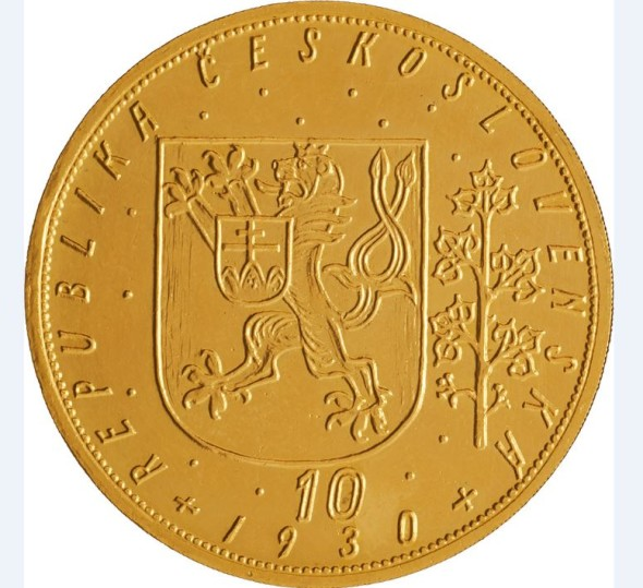 10 Dukát z roku 1930 s vyvolávací cenou 35 000 EUR.