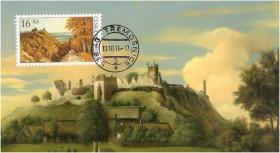 culek hory známka s pohlednicí