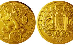 milionova mince barva