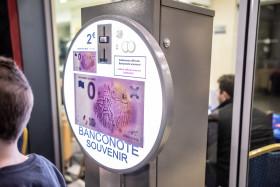 """""""0 eurosuvenýrová bankovka"""" """"Leonardo da Vinci"""" byla poprvé k dostání na veletrhu Sběratel."""