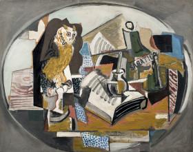 Hranici pěti milionů překonala tři kubistická zátiší od Emila Filly. na obrázku  Zátiší se sovou (vydraženo za 7,7 milionu).