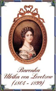 Ulrike von Levetzow, dobová medailonová kresba