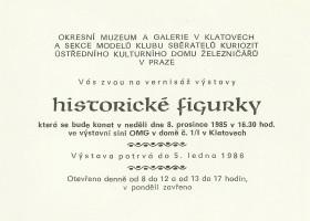 Výstava figurky - plakát 1985