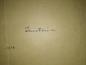 Takto se v roce 1912 podepsal Albert Einstein