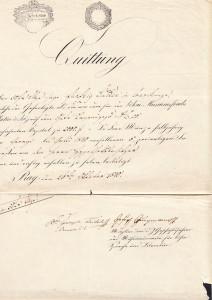 Jungmann a Frič – podpisy dvou slavných obrozenců na jednom dokumentu