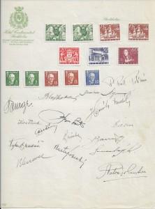 Kompletní československá fotbalová reprezentace z roku 1938