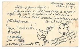 Originální pozdrav od Jiřího Voskovce