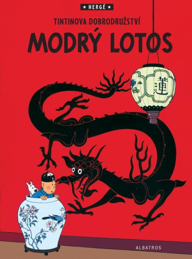 """Příběh """"Modrý Lotos"""" u nás před několika lety vydalo nakladatelství Albatros."""
